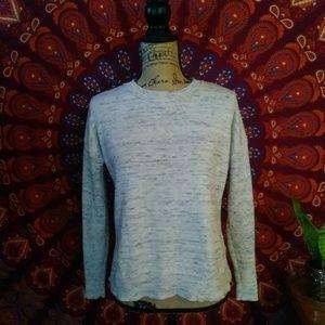 EUC Tahari Cream & Gray Pullover Sweater Medium